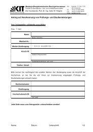 Antrag auf Anerkennung von Prüfungs- und Studienleistungen