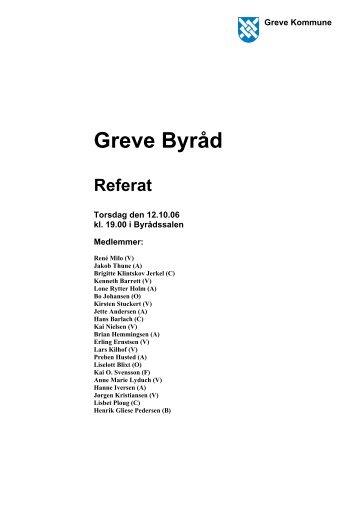 Torsdag den 12. oktober - 2. behandling af budget - Greve Kommune