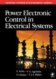Power Electronic Control in Electrical Systems - Index of