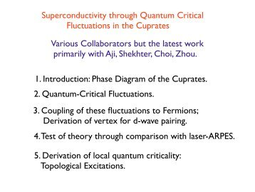 Superconductivity through Quantum Critical Fluctuations in the ...