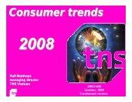 TNS 2008 consumer trends survey - VinaCapital
