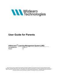 Parent's Guide - ASKnLearn - Wizlearn Technologies