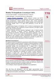le novità per il 2013 - Centro Studi Lavoro e Previdenza