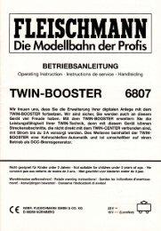 Die Modellbqhn der Profis - Fleischmann-HO