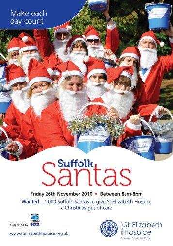 Suffolk Santas registration form - St Elizabeth Hospice