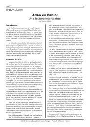 Adán en Pablo, una lectura intertextual - Facultad de Teología SEUT