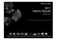Inchcape 2011 Interim Results Presentation (PDF 7.26 MB)