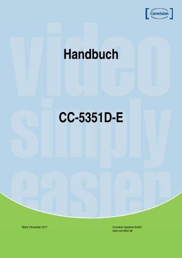 Handbuch CC-5351D-E - Convision