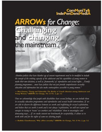 Challenging changing ARROWs for Change - Isis International Manila