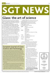 Glass: the art of science - Society of Glass Technology