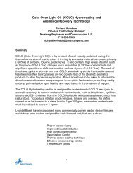 Coke Oven Light Oil (COLO) Hydrotreating and ... - Wood Group