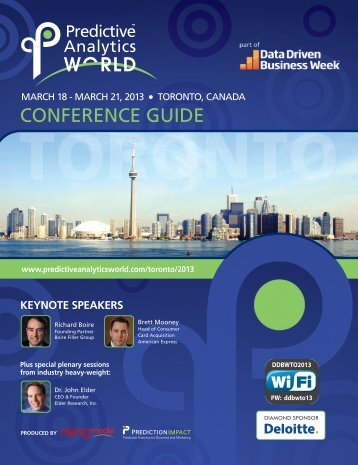 Download the Conference Guide for PAW Toronto, March 18-21, 2013