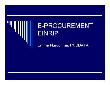 E-PROCUREMENT EINRIP - Pmueinrip-binamarga.com