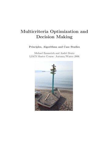 Multicriteria Optimization and Decision Making - Natural Computing ...