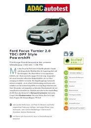 Ford Focus Turnier 2.0 TDCi DPF Style Powershift - ADAC