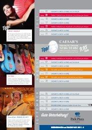 TAPAS Y MUSICA um 18.00 Uhr | 24,50 Euro pro ... - Park Plaza Trier