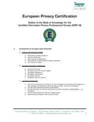 I. Introduction to European Data Protection A. Origins and Historical ...