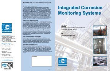 Integrated Corrosion Monitoring Systems Integrated Corrosion ...
