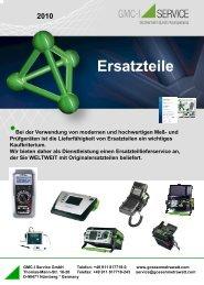 Ersatzteile Schreiber - GMC-I Service GmbH