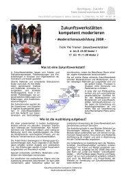 [PDF] Flyer 2008: Train the Trainer Zukunftswerkstatt