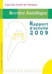 rapport d'activité 2009 - Ligue des droits de l'Homme