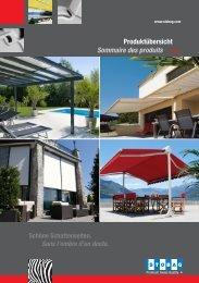 Produktübersicht / Sommaire des produits - Rupf Storen GmbH