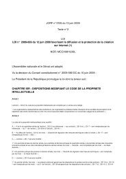 JORF n°0135 du 13 juin 2009 Texte n°2 LOI LOI n ... - Globenet
