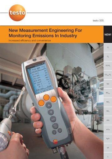 Testo 335 Portable Flue Gas Analyzer Catalog ... - RAECO Rents