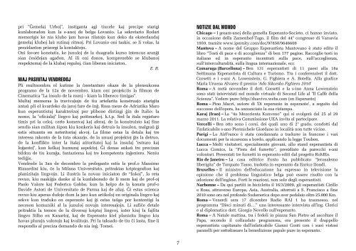 ANNO LX Gennaio - Febbraio 2011 INDICE Circolo Esperantista ...