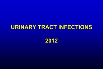 Urinary Tract Infections - Infectious Diseases