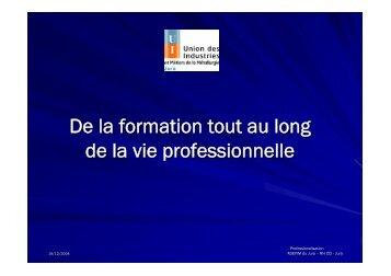 De la formation tout au long de la vie professionnelle - CCI du Jura
