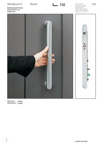 1/29 Übersicht FSB-Fingerscan 2.0 Bedienungsanleitung ... - E-key