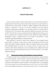 CAPITOLO 11 CIRCUITI ANALOGICI - dieet