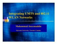Integrating UMTS and 802.11 WLAN Networks - Ryerson University