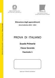 Prova di Italiano classe II primaria - Fascicolo 1 - Invalsi