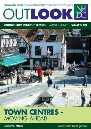 TOWN CENTRES - - North Hertfordshire District Council