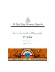 The Northern New Jersey Championship Program - United States ...