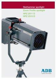 Niethammer spotlight Zoom Profile spotlight HPZ 2511 D HPZ 2515 D