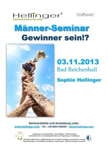 Detaillierte Informationen zum Seminar - Hellinger.com