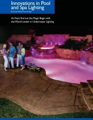 Innovations in Pool and Spa Lighting - PoolSpaDR.com