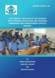 CoSt BENEfIt ANAlySIS of tHE UgANdA PoSt PRImARy EdUCAtIoN ...