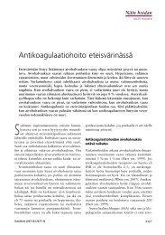 Antikoagulaatiohoito eteisvärinässä - Duodecim