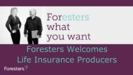 Foresters Life Insurance Products - Shaw American