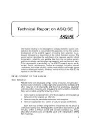 Technical Report on ASQ:SE - Brookes Publishing Co.