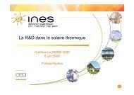 Solaire thermique - INES - DERBI 2008