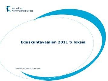 Eduskuntavaalien 2011 tuloksia - Kunnat.net