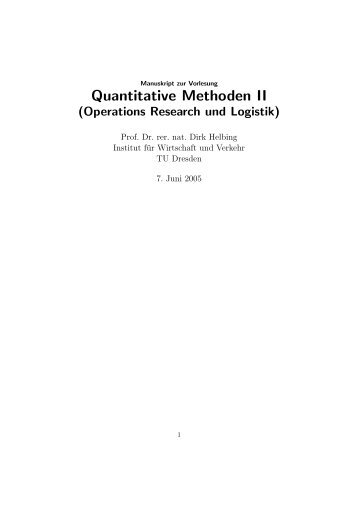 Quantitative Methoden II