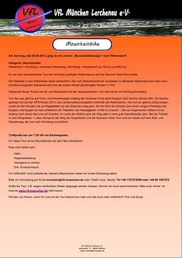 08.09.2013 Tour Westendorf-Kirchberg und dann den Aschauer ...