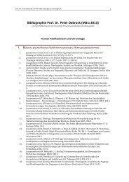 Bibliographie Prof. Dr. Peter Dabrock (März 2013) - Ethik.theologie ...