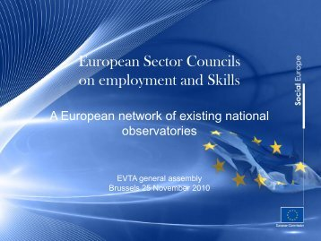 European Sector Councils on employment and Skills: A ... - EVTA